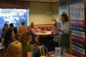 Congressional Candidate, Wendy Rogers, Meets With Supporters In Graham County